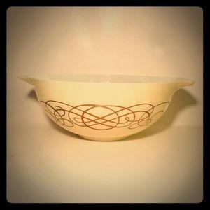 Vintage Pyrex 444 Golden Scroll Bowl